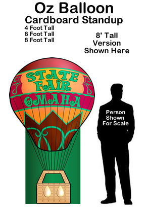 Wizard Of Oz clipart air baloon Props of Standup Oz Cutout