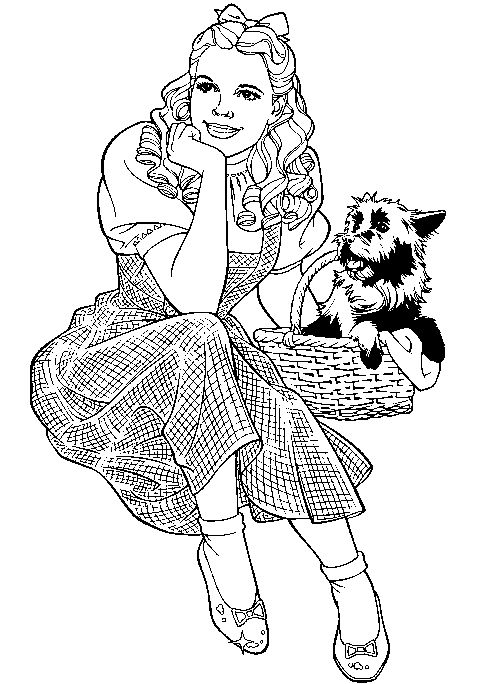 Wizard Of Oz clipart coloring page Pages Pinterest and characters Pin