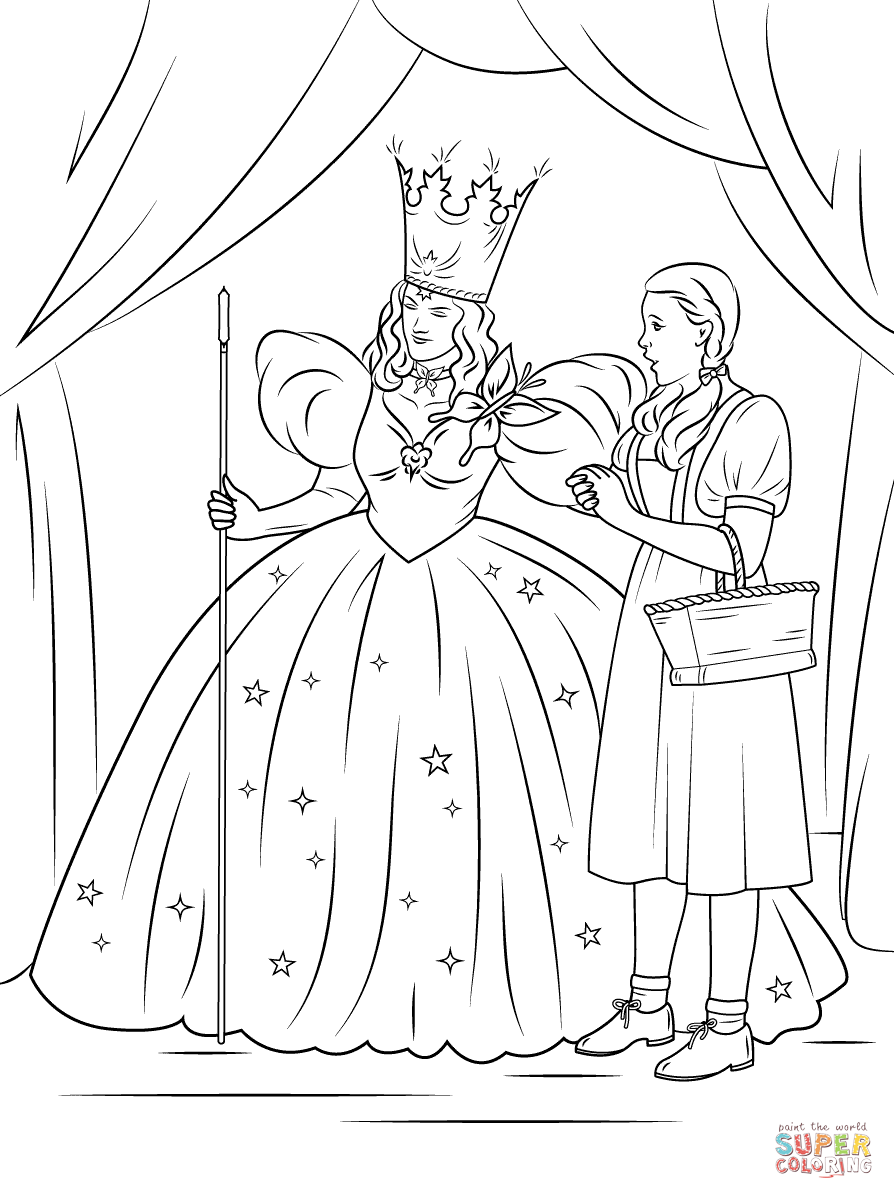 Wizard Of Oz clipart coloring page From pages The of Glinda