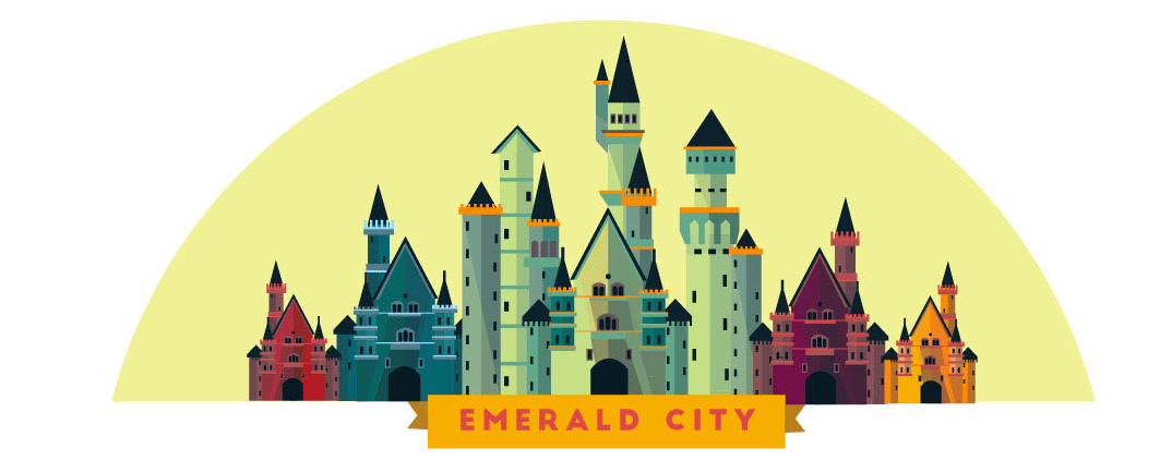 Wizard Of Oz clipart emerald castle On of Emerald Wizard boardgame