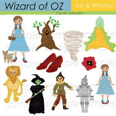 Wizard Of Oz clipart glenda DOWNLOAD INSTANT Oz commercial Stationary