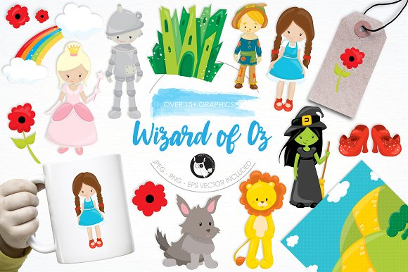 Wizard Of Oz clipart template Wizard ~ oz on Illustrations
