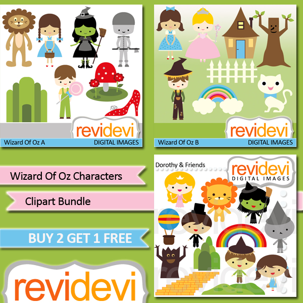 Wizard Of Oz clipart template Wizard 3 includes This Oz