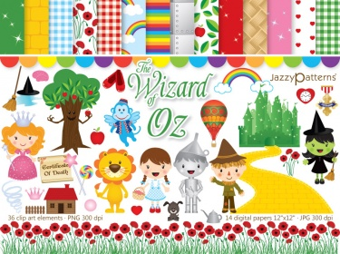 Wizard Of Oz clipart template The pack Meylah Wizard Wonderful