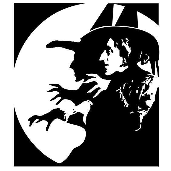 Wizard Of Oz clipart the west Clipart Black Wizard  White