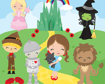 Wizard Of Oz clipart vintage art #6