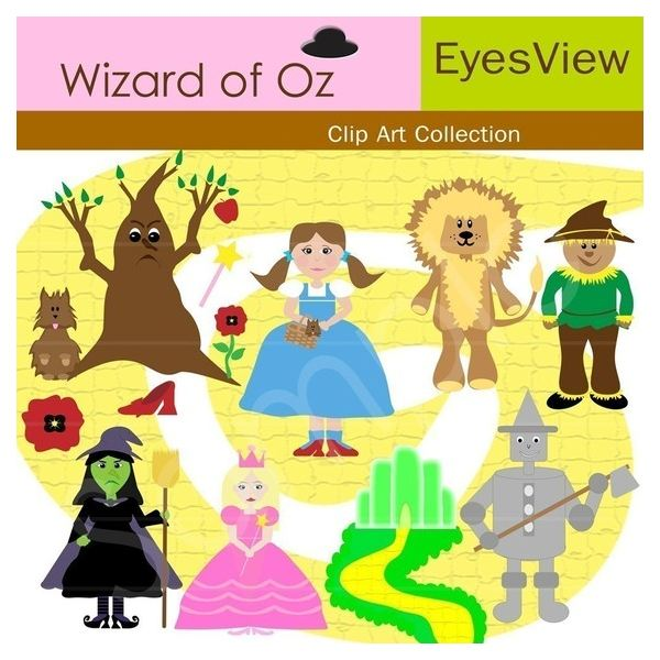 Wizard Of Oz clipart vintage art #5