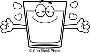 Vodka clipart shot glass Cartoon glass shot A 4