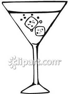 Whit clipart martini glass  Glass And Free White