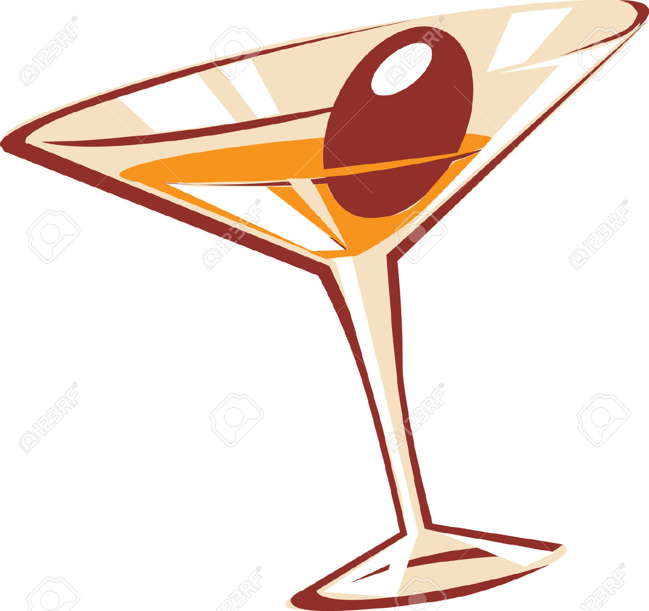 Vodka clipart martini glass Royalty Free And Illustration Martini