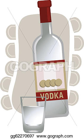Wodka clipart wine bottle Russian Illustration Vector Clipart Drawing