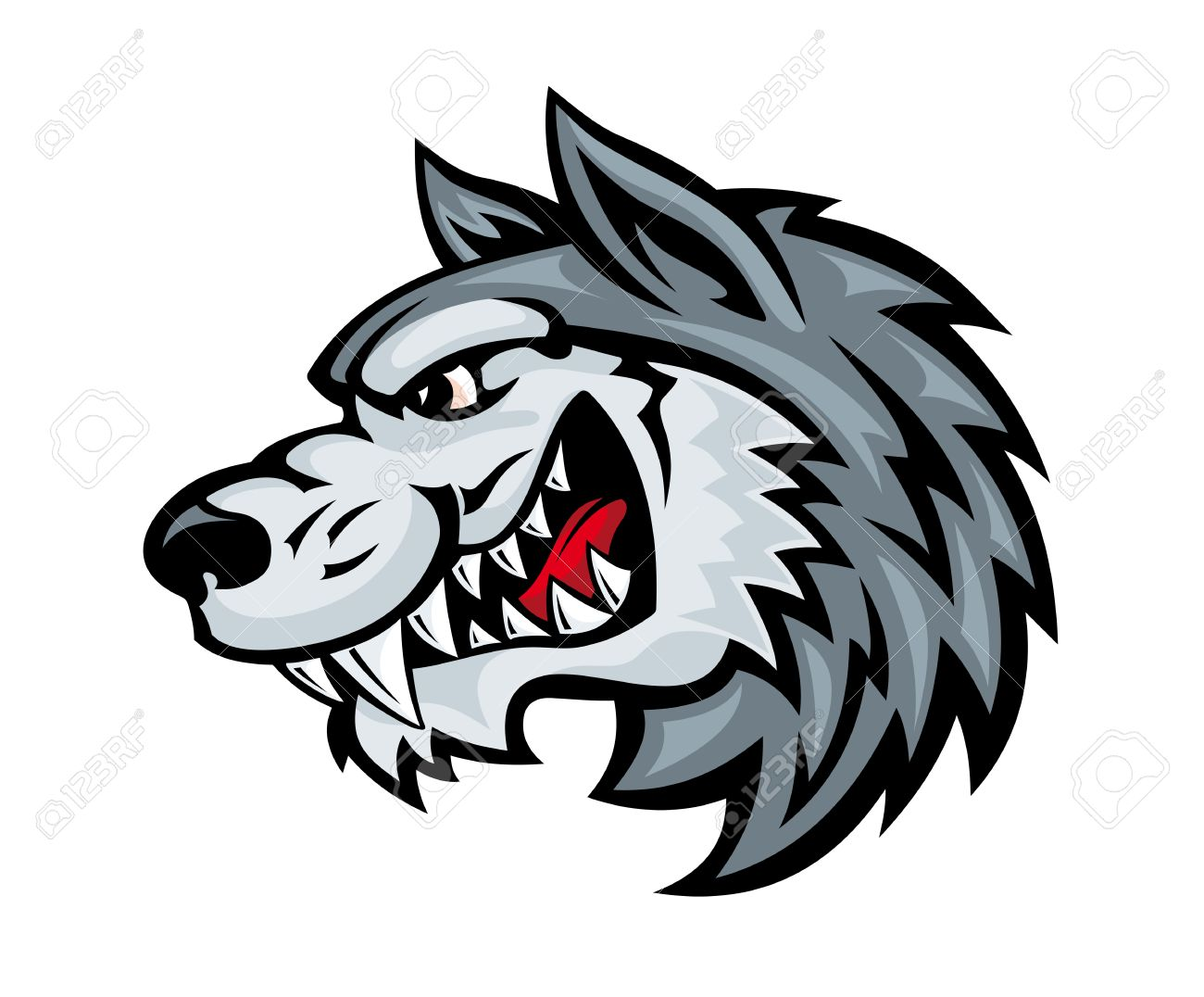 Wolf clipart angry wolf Wolf wolf head clipart Fierce