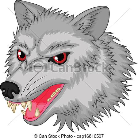 Wolf clipart angry wolf Character cartoon wolf Vector csp16816507