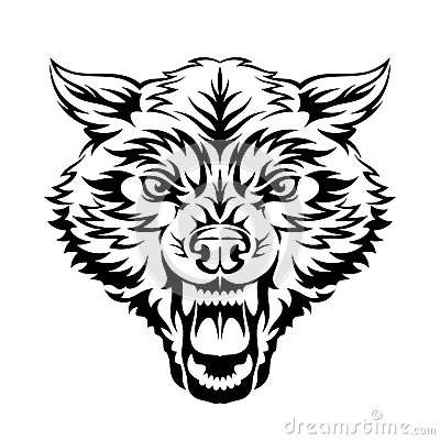 Wolf clipart angry wolf Royalty tattoo head free free