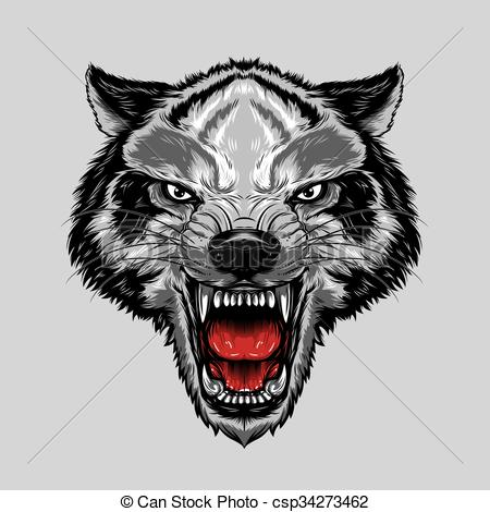 Wolf clipart angry wolf An Face Wolf angry Clip