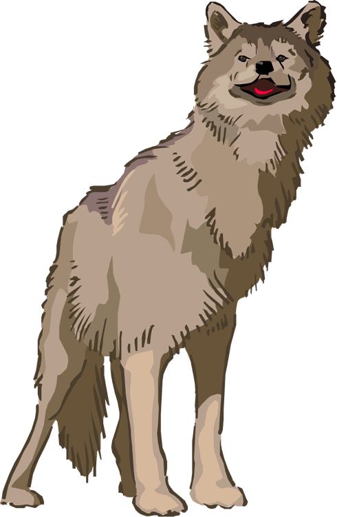 Wolf clipart animated Cute Animated Clipart Free Image
