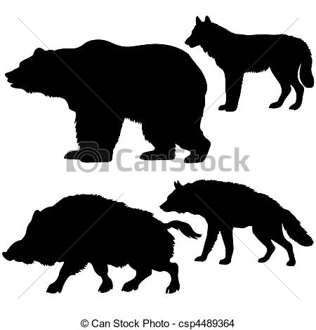 Wolf clipart bear Hyena wolf of wild boar