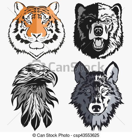 Wolf clipart bear Vector csp43553625 Bear  vector