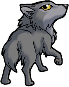 Wolf clipart chibi Colored C DrStitches wolf Tsume