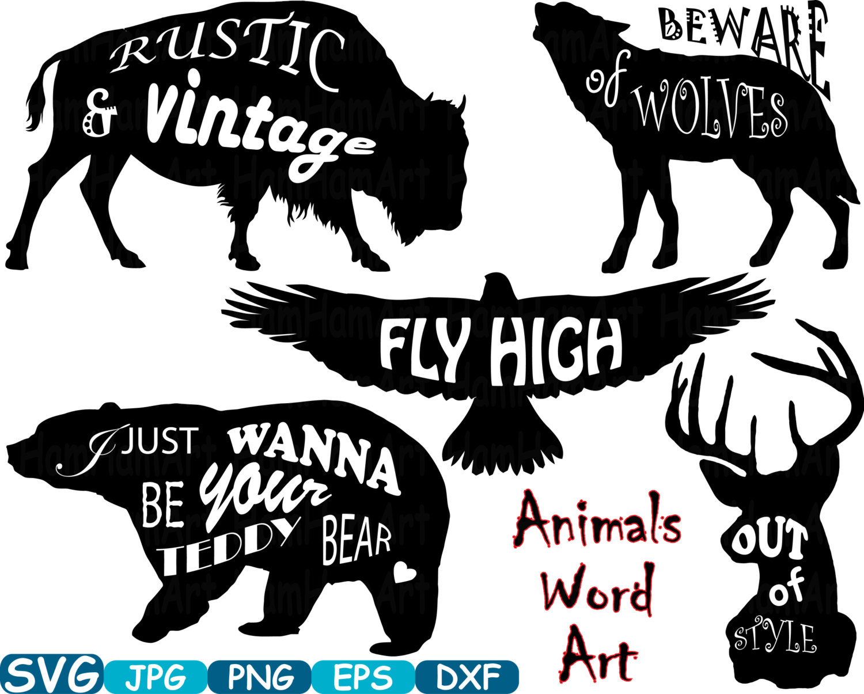Wolf clipart deer Files Deer SVG Art file