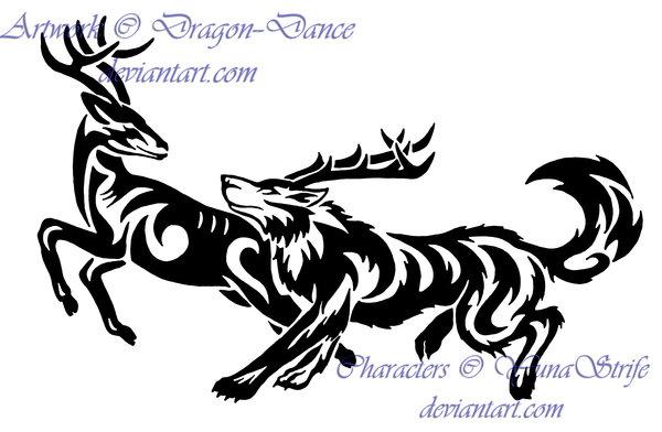 Wolf clipart deer Running Commission Wolf DeviantArt DansuDragon