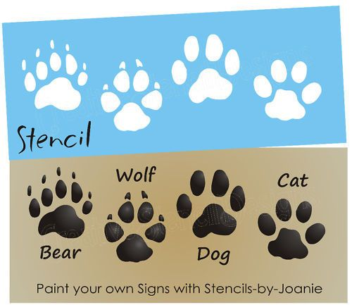 Wolf clipart dog tracks Print on Paw 25+ Cabin