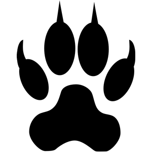 Wolf clipart dog tracks  or Dog clipart Wolf