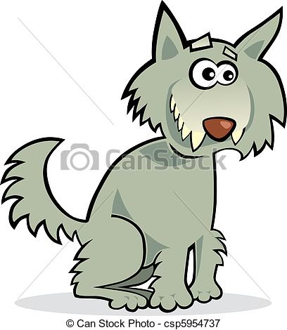 Wolf clipart funny Vectors Vector illustration  of