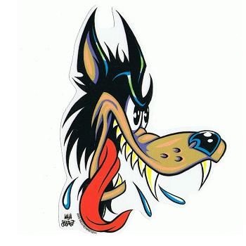 Wolf clipart basic Cartoon wolf wolf tattoo neo