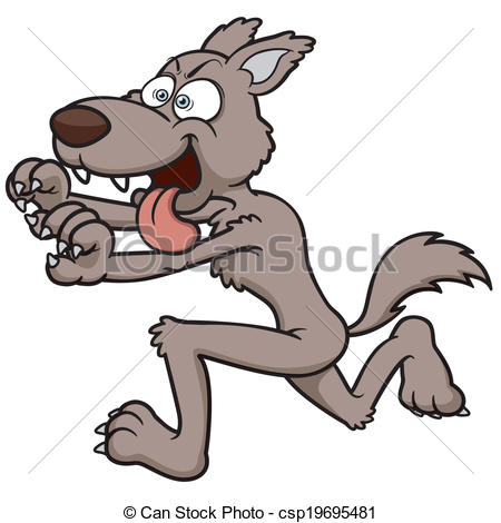 Wolf clipart leg Of Vector Wolf Vector of