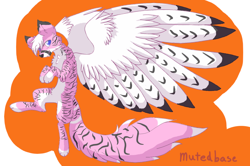 Wolf clipart pink Wolf Firealpaca Winged Wolf drawing)