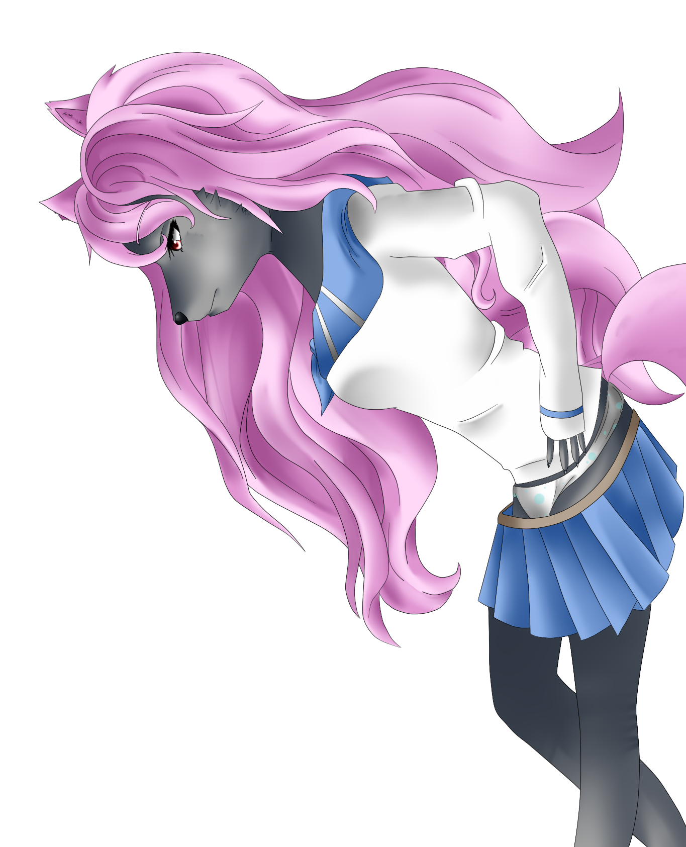Wolf clipart pink Girl Wolf Wolf — girl