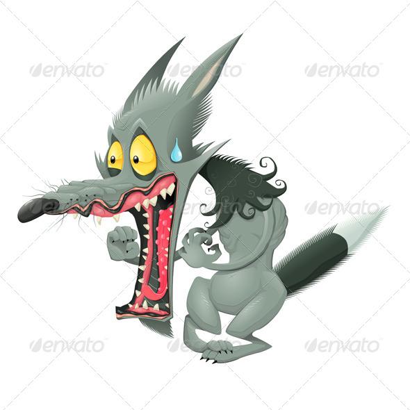 Wolf clipart scared Graphic ai css de/pinterest DOWNLOAD