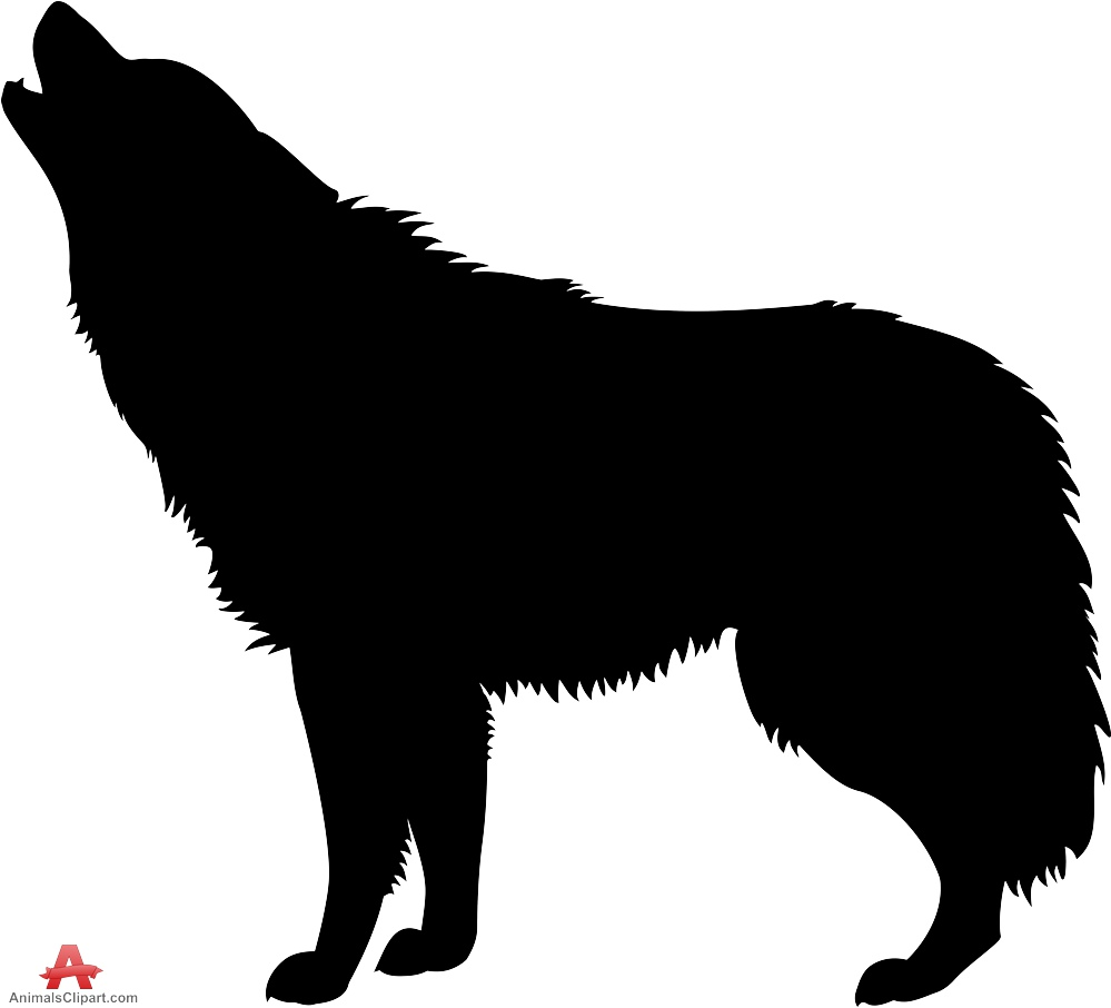 Wolf clipart silhouette Design Silhouette Wolf Download Clipart
