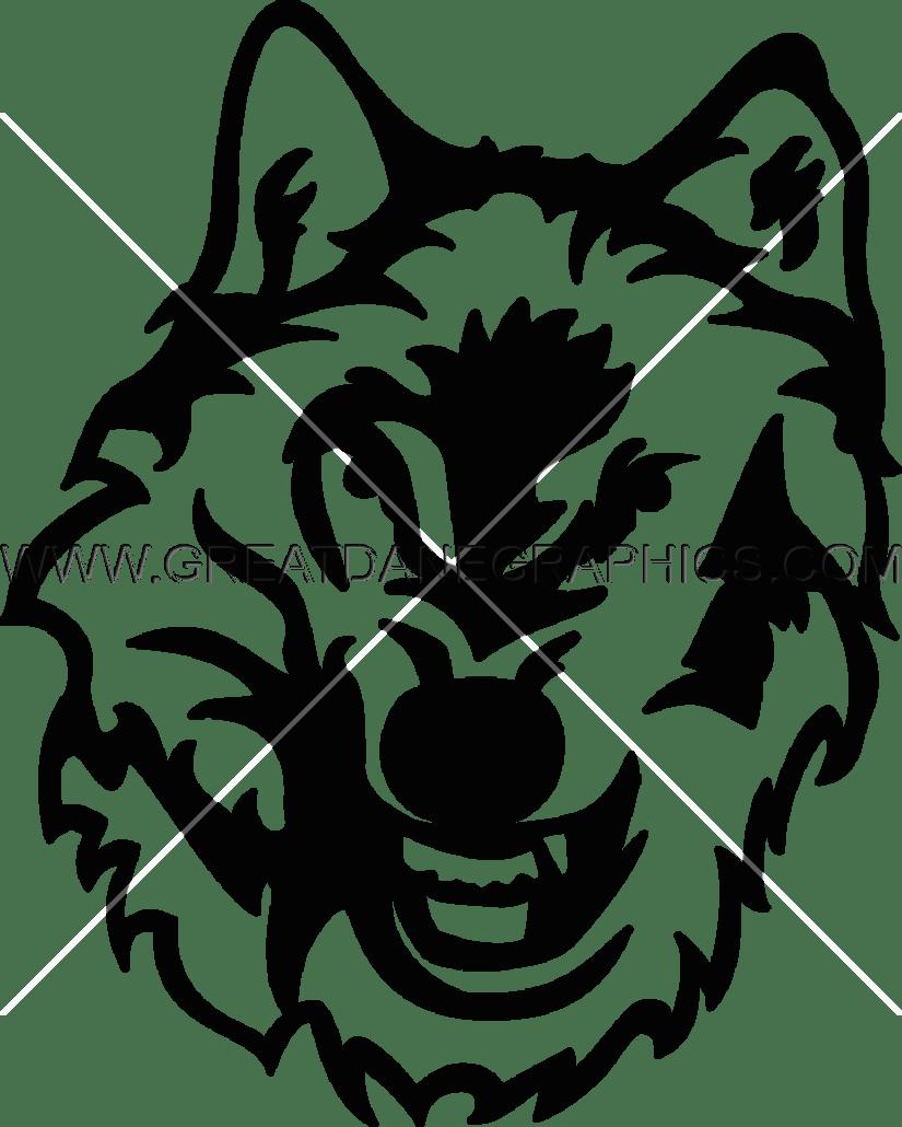 Wolf clipart snarl Printing Snarl Artwork Shirt for