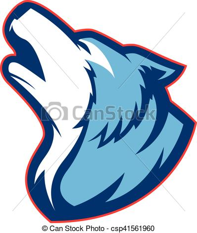 Wolf clipart teal Of picture of  wolf