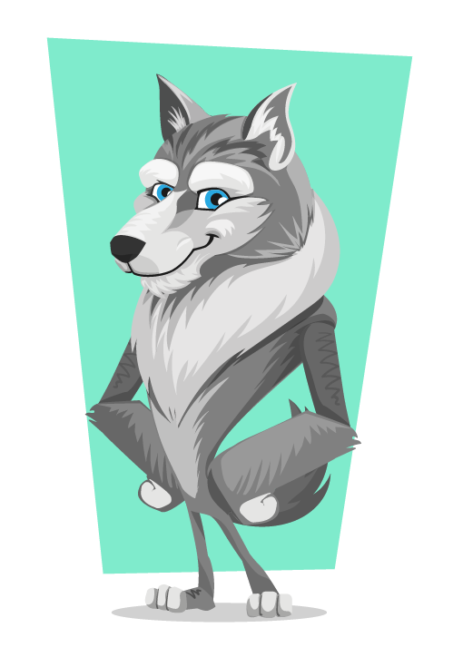 Wolf clipart teal Free Clipart 78 Wolf Wolf