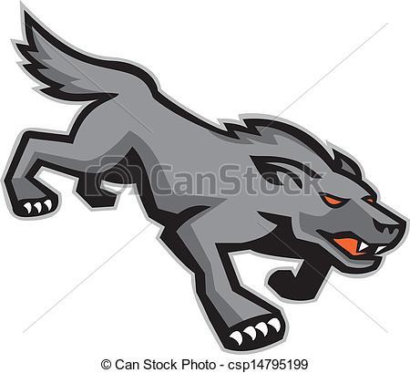 Wolf clipart wild dog Wild Illustration Wolf Wolf a