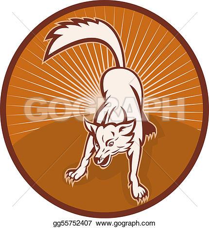Wolf clipart wild dog Drawing dog barking barking sunburst