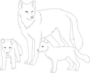 Wolf clipart wolf pup Mother Clipart Her Mother Clipart