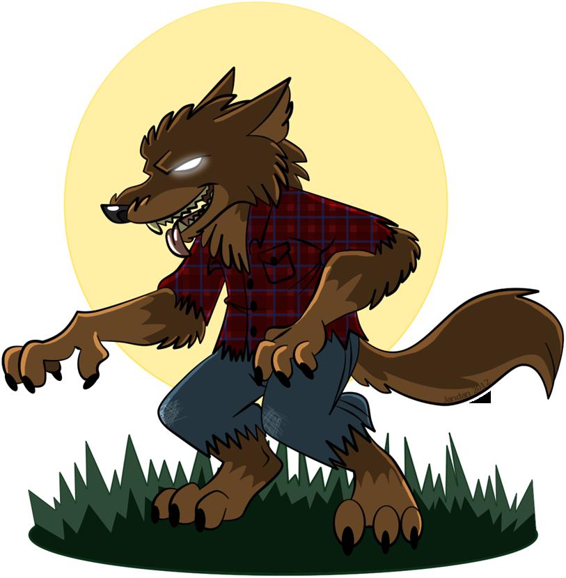 Drawn wolfman transparent Werewolf Cartoon by  Jandan