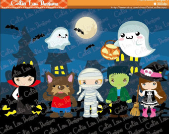 Zombie clipart mummy Spooky Witch Party Vampire art