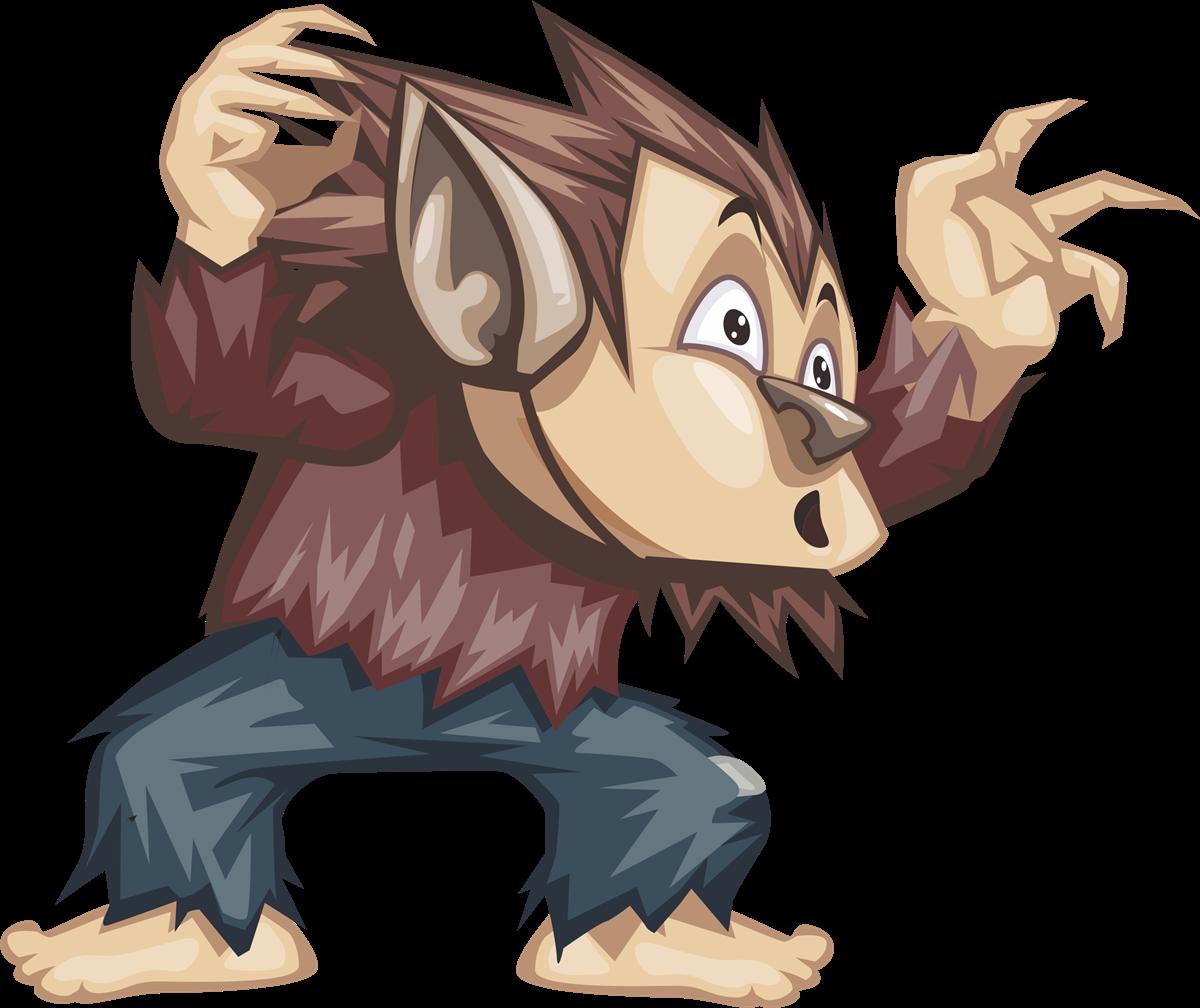 Werewolf clipart Clip Domain Art Zone Werewolf
