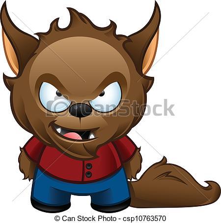 Werewolf clipart Shocked Werewolf A vector Werewolf