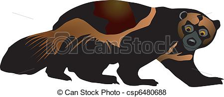 Wolverine clipart Free white vectors Wolverines Illustrations
