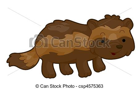 Wolverine clipart animal Right  of Illustration Drawings