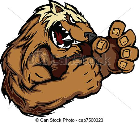 Wolverine clipart animal Of Wolverine a a Vector
