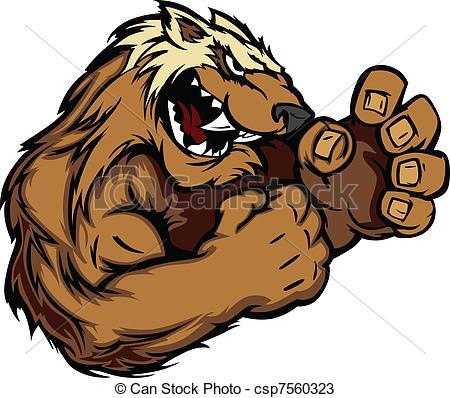 Wolverine clipart animal Csp7560323 Wolverine Graphic Wolverine Vectors