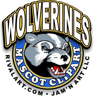 Wolverine clipart baseball Rivalart com on Clipart Mascot