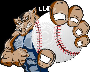 Wolverine clipart baseball Baseball holding baseball Wolverine holding